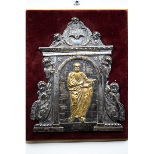 Pax, silver plated and gilded bronze - Flemish 17th/18th century