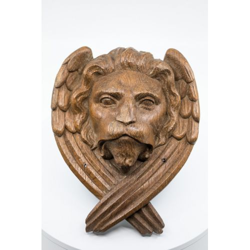 Carved wood - Lion (symbol of saint Marc) - 18th century