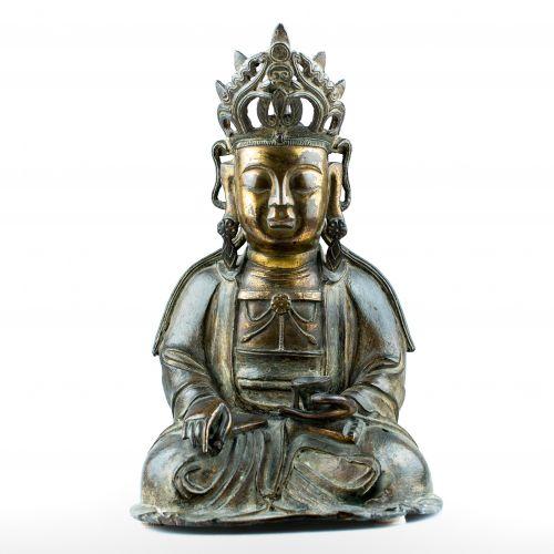 Bodhisattva en bronze doré - Époque Song