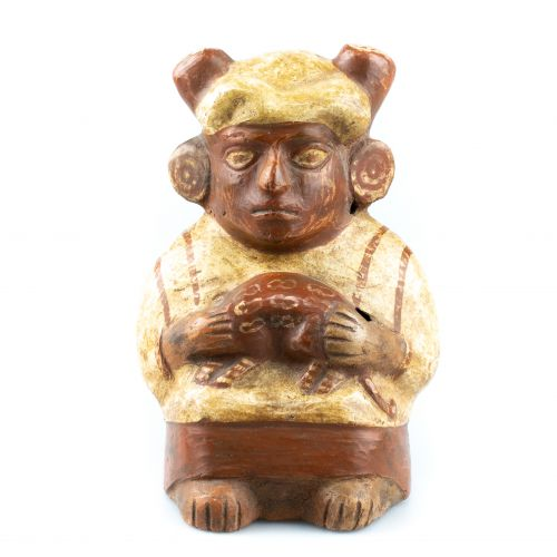 Anthropomorphic Vase (stirrup handle) - Mochica (100 ACN - 600 PCN)