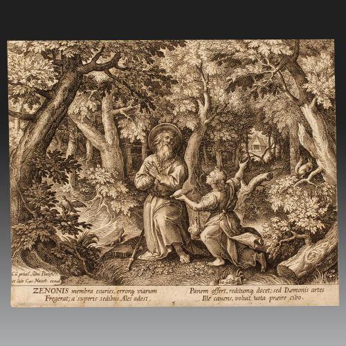 JOHANN SADELER (Brussels 1550 - Venice 1600). Flemish School